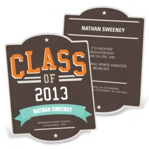 Graduation Announcements -- Retro All Star