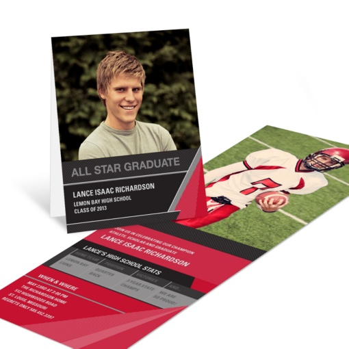 Graduation Invitations -- All Star