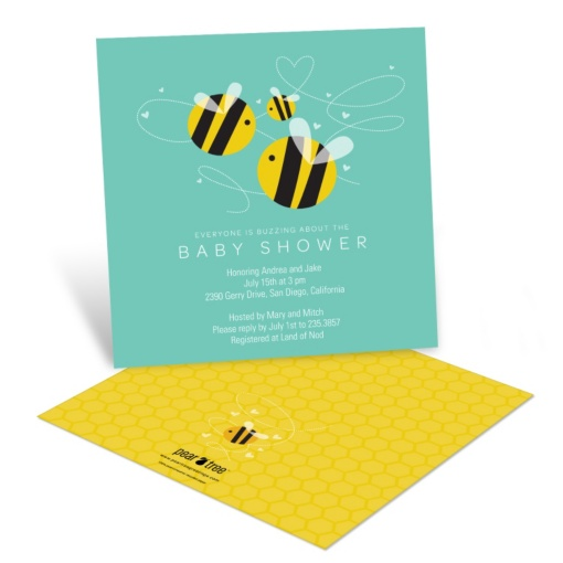 Bumble Bee Baby Shower Invitations -- Buzzing in Baby Love