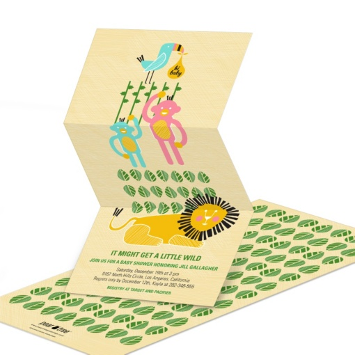 Unique Baby Shower Invitations -- Wild Arrival from the Jungle