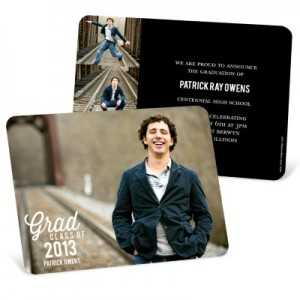 Graduation Announcements & Invitations -- Favorite Photo Horizontal