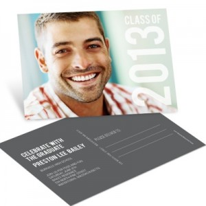 Graduation Announcements & Invitations -- Big Year Horizontal Postcard