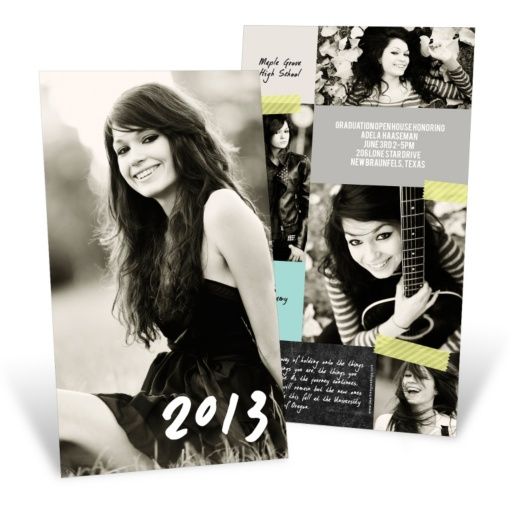 Graduation Announcements & Invitations -- Candid Collage