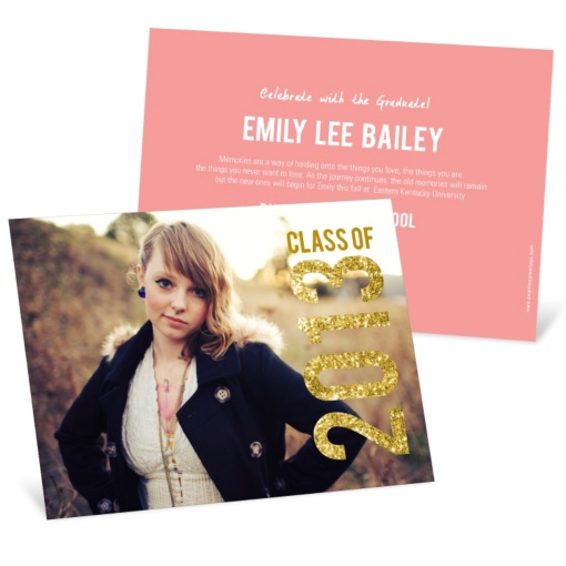 Graduation Announcements -- Glam Grad Horizontal Photo