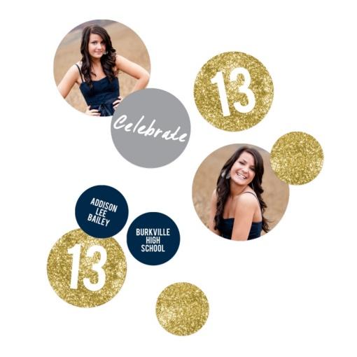 Graduation Party Decorations -- Glam Grad Gold Photo Table Decor