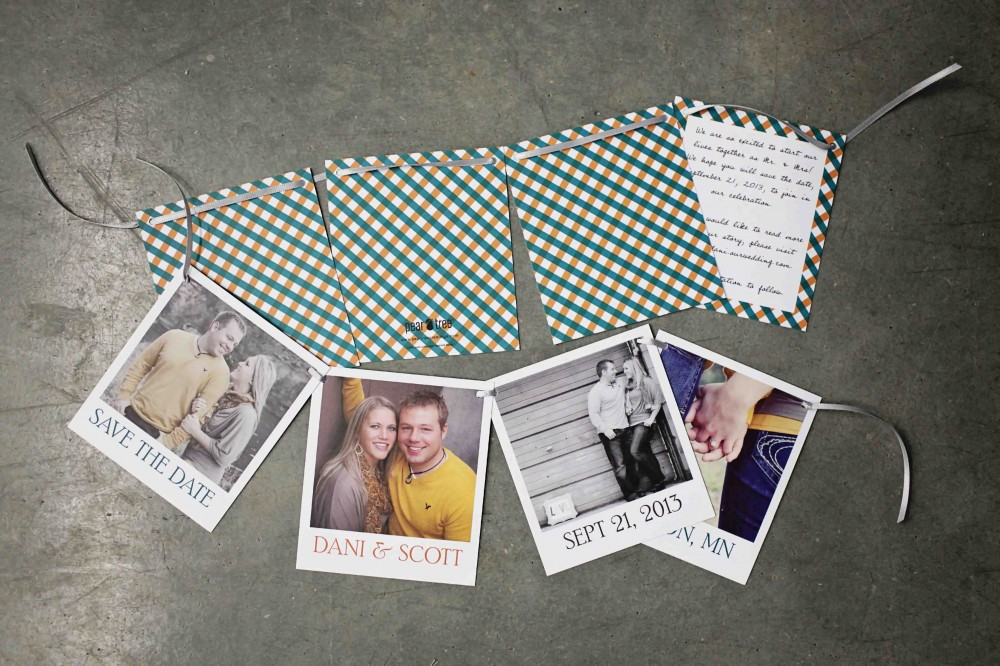Gingham Photo Greeting