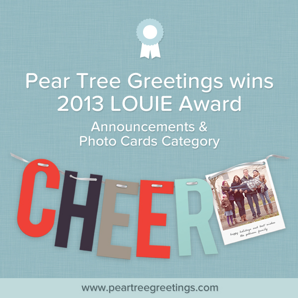 Pear Tree Greetings wins 2013 LOUIE Award
