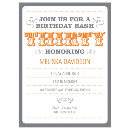 30th Birthday Party Invitations -- The Big 3-0