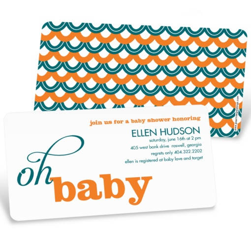 Baby Shower Invites -- Sweetly Strung Scallops