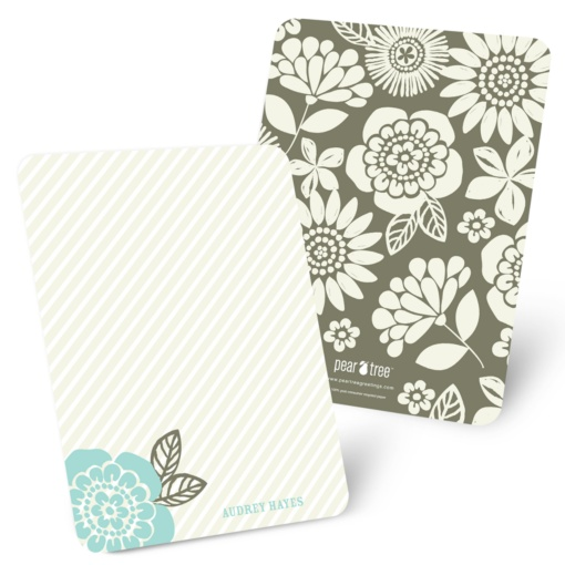Personalized Stationery Note Cards -- From Stripes to Flowers