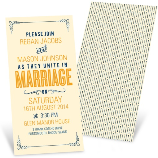 Poster Style Wedding Invitations -- Happily Ever Headlines