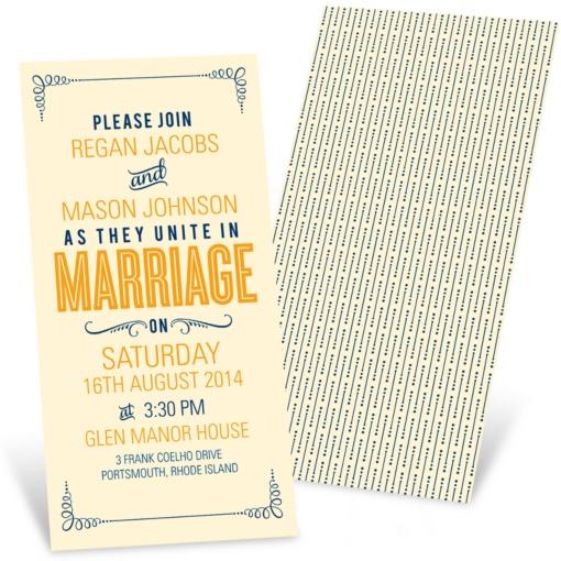 Poster Style Wedding Invitations -- Happily Ever Headlines