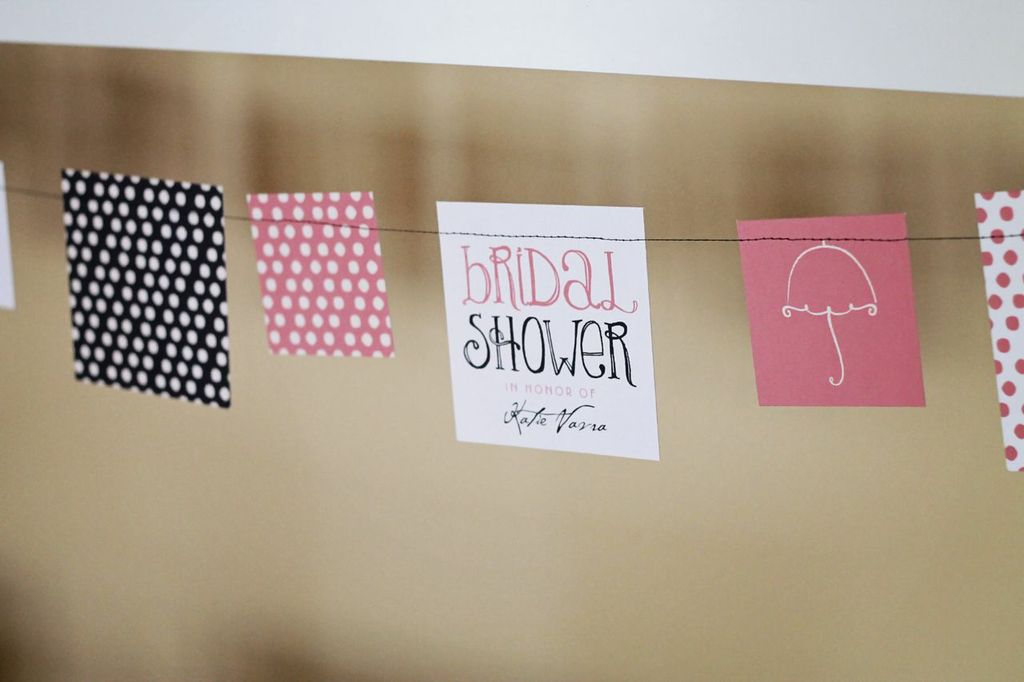 Bridal Shower Decorations -- Showers Ahead Table Decor