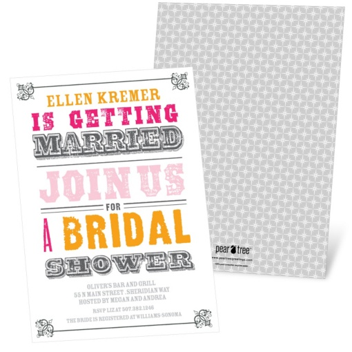 Bridal Shower Invitations -- Vintage Couples Affair