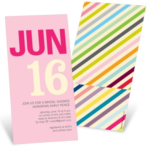Bridal Shower Invitations -- Multi Stripes