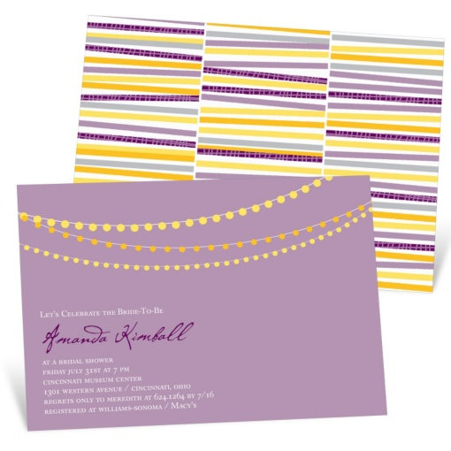 Bridal Shower Invitations -- String The Lights