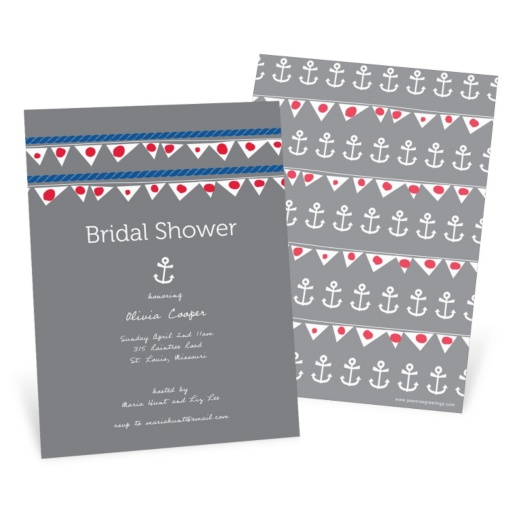 Bridal Shower Invitations -- Setting Sail