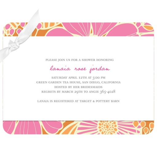 Bridal Shower Invitations -- Tropical Twist