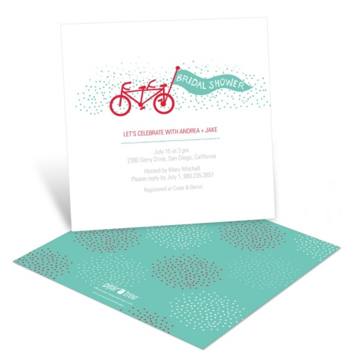 Bridal Shower Invitations -- Tandem Ride