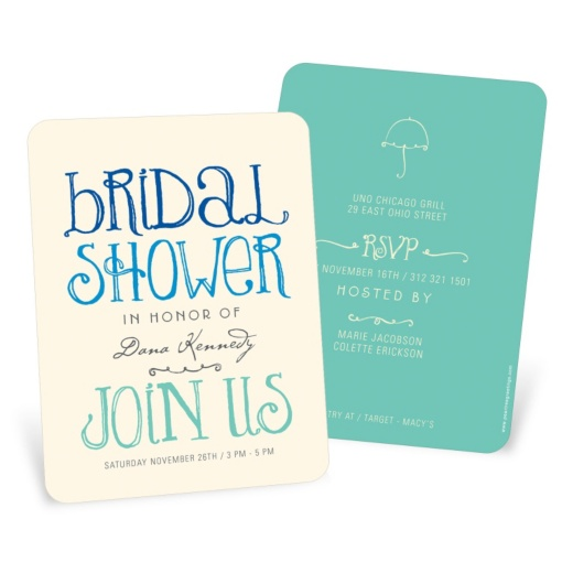 Bridal Shower Invitations -- Showers Ahead
