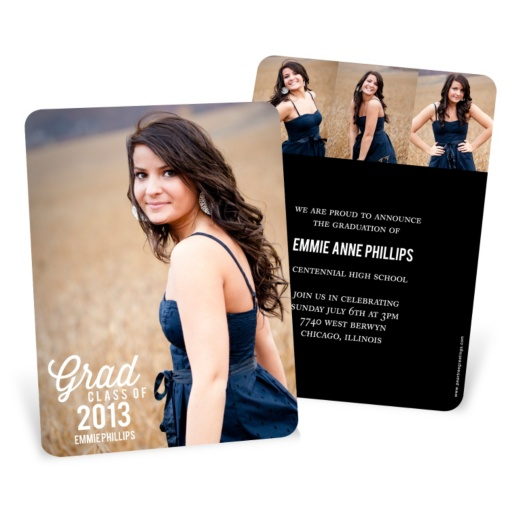 Graduation Announcements & Invitations — Favorite Photo Vertical