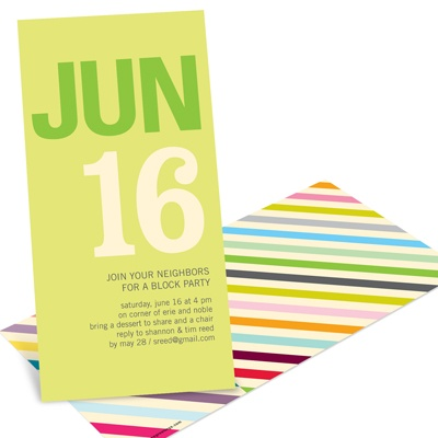 Retro Party Invitations -- Color Stream