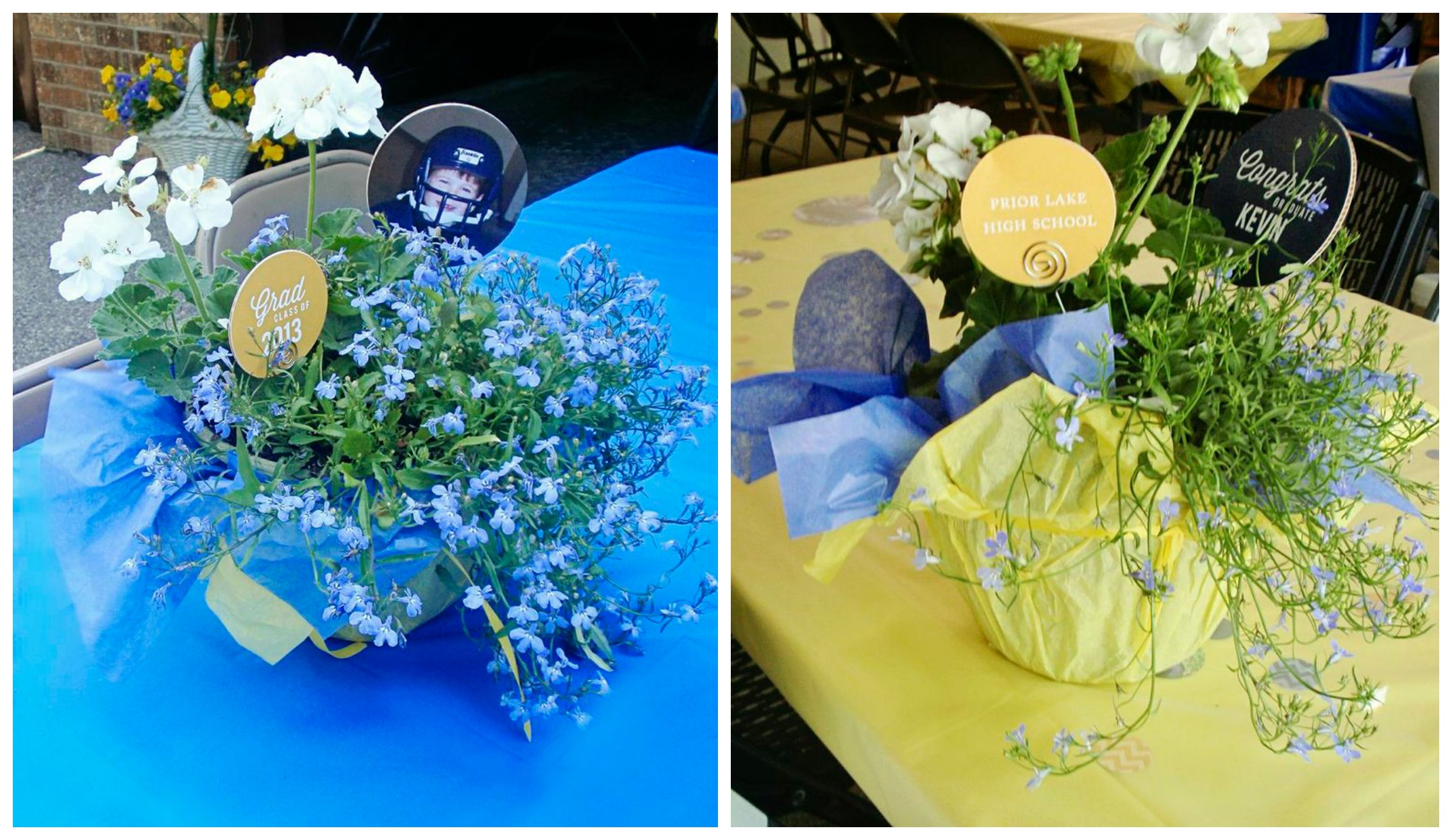 Blue Party Decorating Ideas graduation party ideas: garage party | pear tree blog