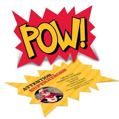 Superhero Photo Birthday Invitations -- Calling All Superheroes!