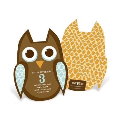 Kids Birthday Invitations -- Feathered Friend