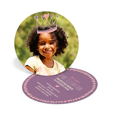 Kids Birthday Invitations -- Crown Me Princess