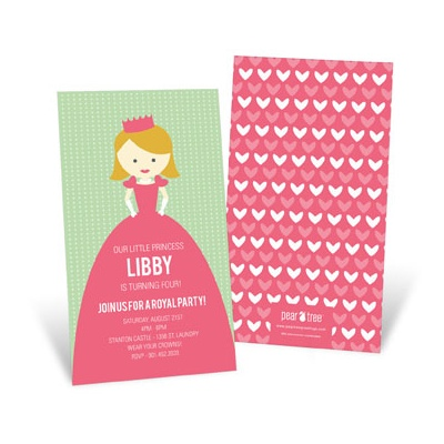 Kids Birthday Invitations -- A Princess Like Me