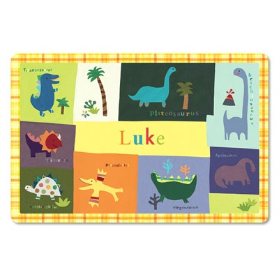Personalized Kids Placemats -- Dino-Mite!