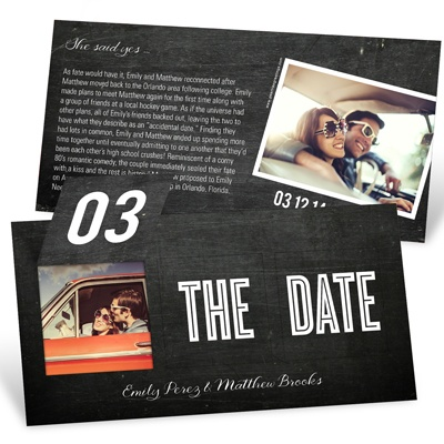 Save the Date Cards -- Pop Up to Perfection