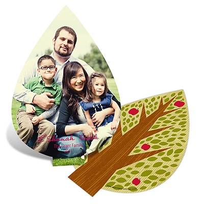 Unique Cut Rosh Hashanah Greeting Cards