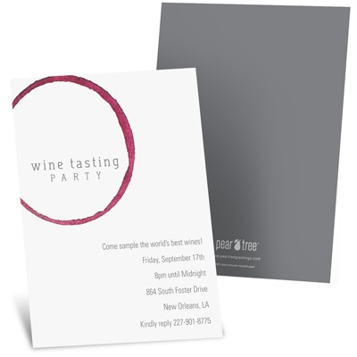 Wine Tasting Party Invitations -- Wine Remnants