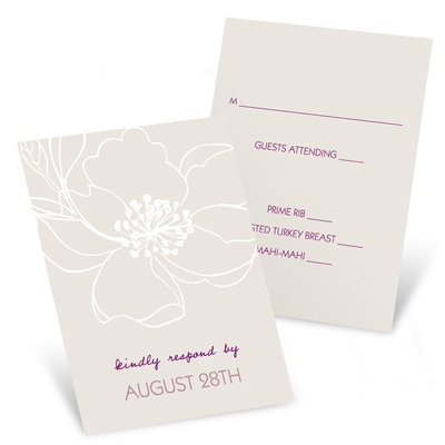 Wedding Reply Cards -- Fairy Tale Floral