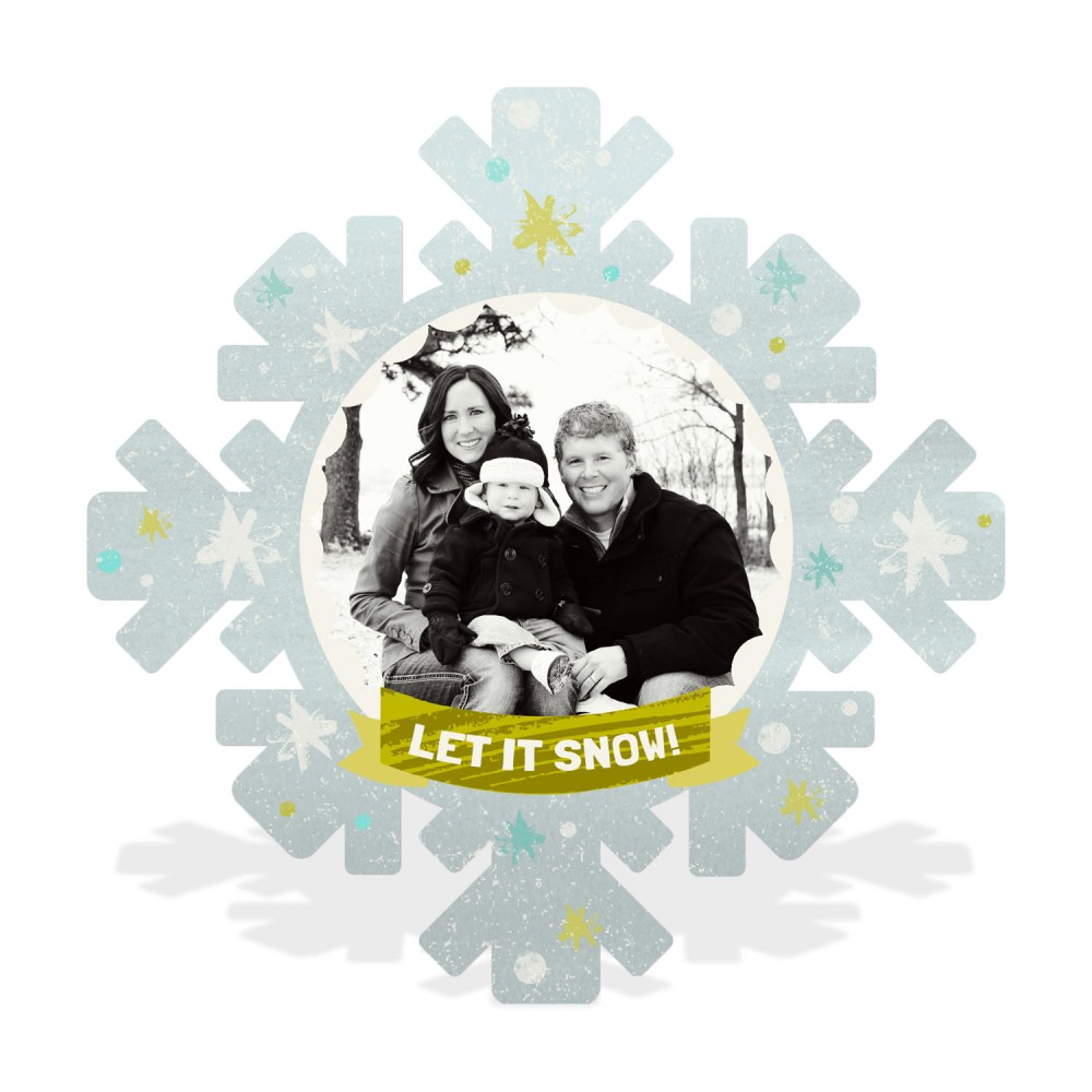 Cut Out Snowflake -- Christmas Cards