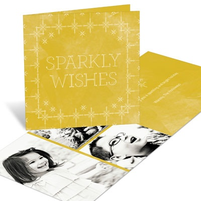 Sparkly Wishes Christmas Cards