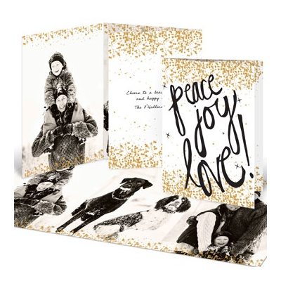Sprinkled with Gold Photo Christmas Cards