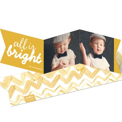 Gold Ribbon Christmas Cards