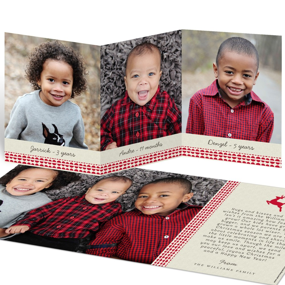 Photo Christmas Cards -- Reindeer Games