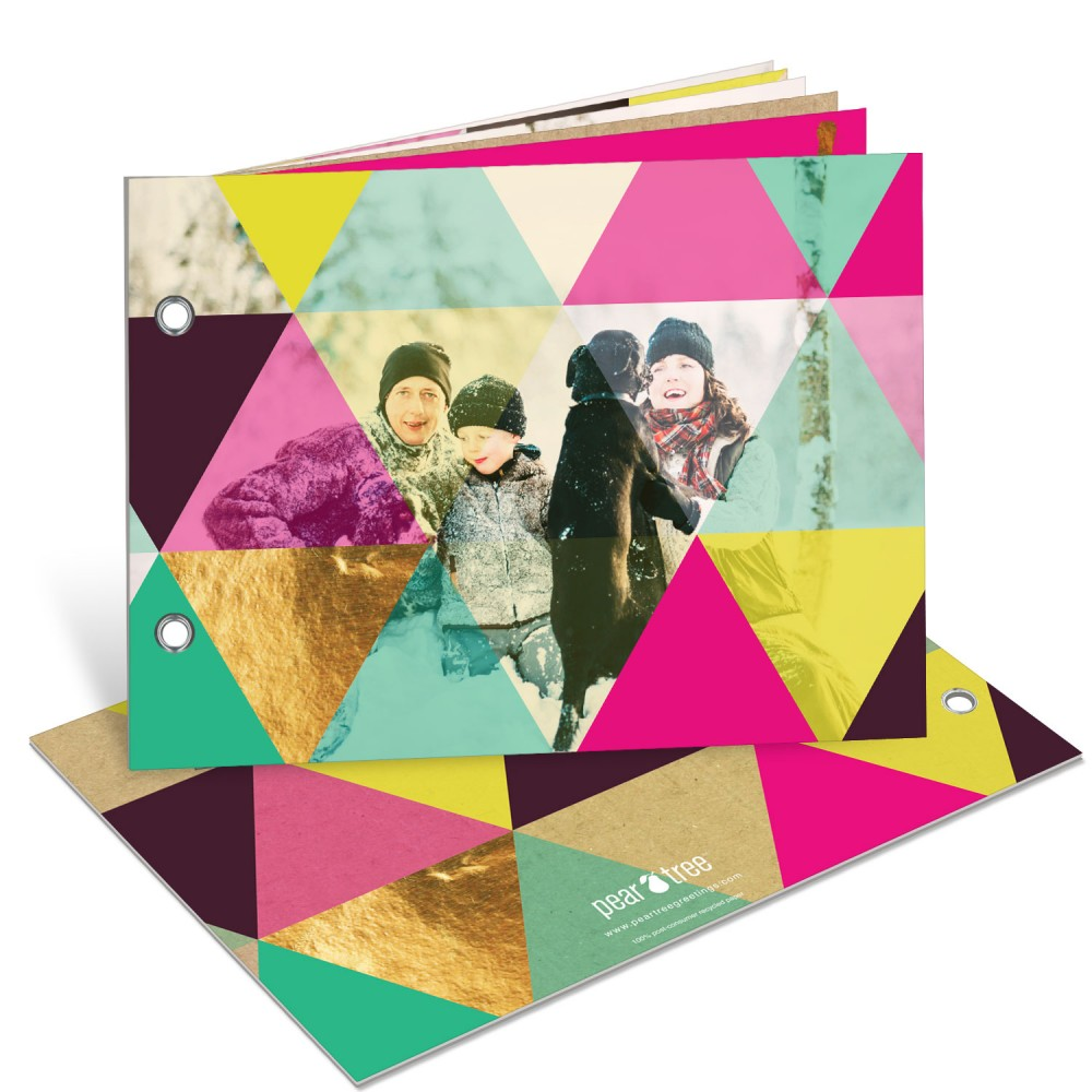 Colorful Kaleidoscope Photo Book -- Christmas Cards