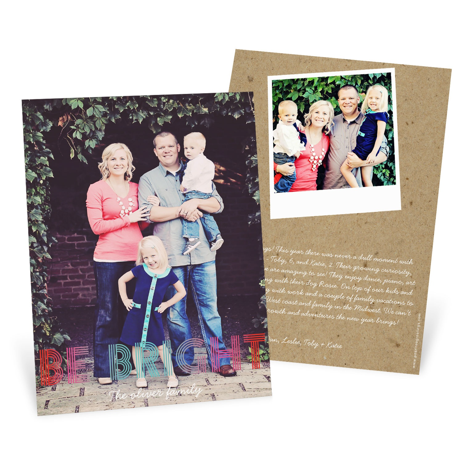 Ombre Greeting Photo Christmas Cards