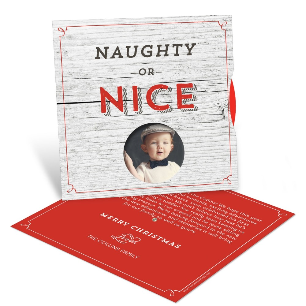 Naughty or Nice Spinner -- Christmas Cards