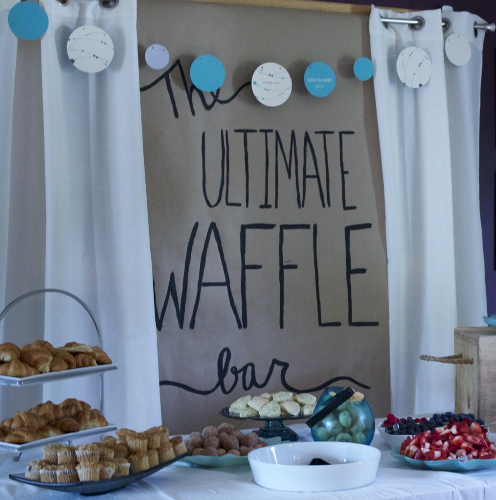 Couples shower ideas waffle bar pear tree blog for Bathroom ideas for couples