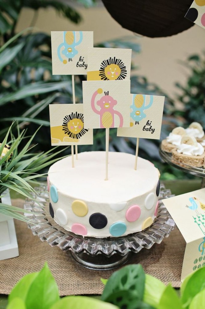 Baby Shower Decorations -- Jungle Table Decor