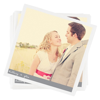 Newlywed Banner Personalized Photo Napkins