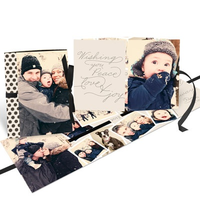 Photo Christmas Cards -- Thread The Ribbon Booklet