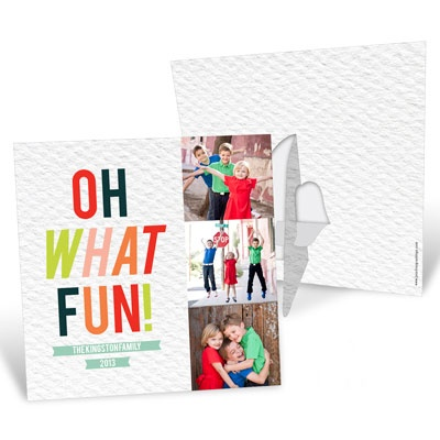 Photo Christmas Cards -- Tri Photo Stand-Up Frame
