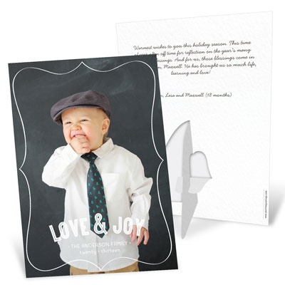 Photo Christmas Cards -- Vertical Stand-Up Picture Frame